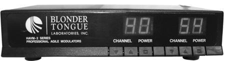 Blonder Tongue HAVM-2HA Professional Agile Modulator - 300-550 MHz 2 Channels