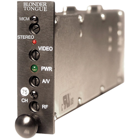 Blonder Tongue MICM-45DS HE-12 & HE-4 Channelized Stereo A/V Modulator - Ch. 19