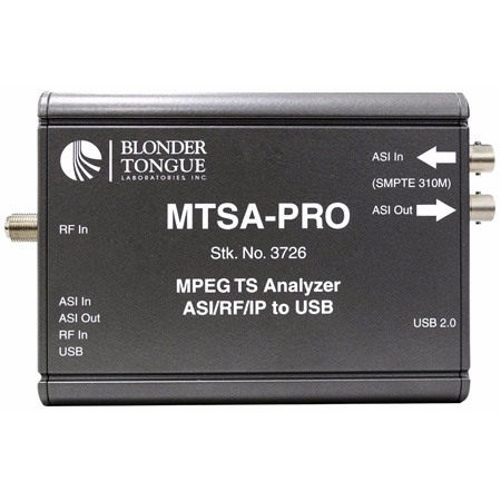Blonder Tongue MTSA-PRO MPEG Transport Stream Analyzer