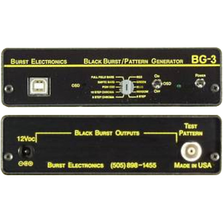 BURST BG-7 Black Burst Generator (Balanced 1kHz mini-XLR)