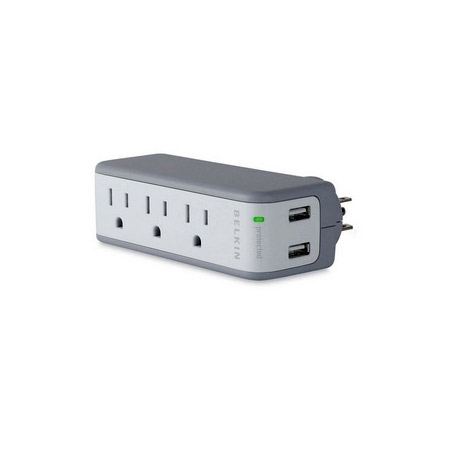 Belkin BZ103050-TVL 5-Outlets Mini Surge Suppressors with USB Charger