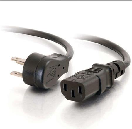 C2G 27900 1.5 Feet 18 AWG Universal Flat Panel Power Cord (NEMA 5-15P to IEC320C13)