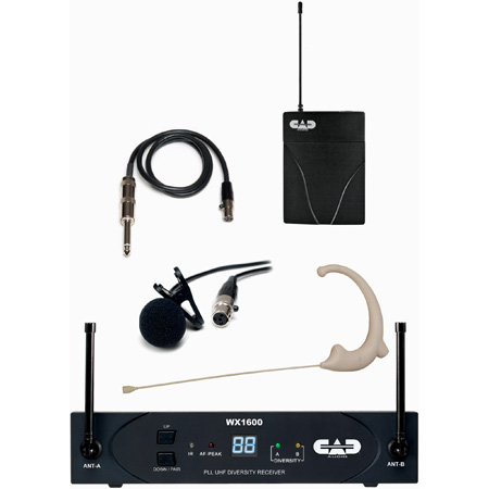CAD WX1610-G UHF 100 Channel Bodypack Wireless System - G Band 542-564 MHz