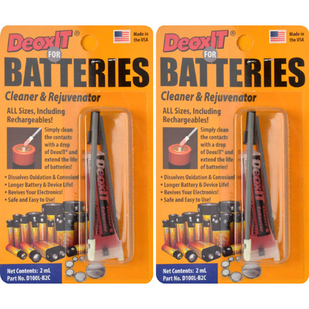 CAIG D100L-B2C-2X - DeoxIT for Batteries - Cleaner and Rejuvenator Kit - 2 pack