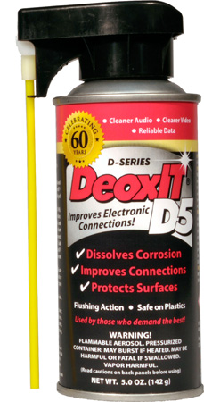 CAIG Products D5S-6P 60th Anniversary DeoxIT® D5 Spray with New Perfect Straw