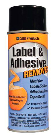 CAIG DLR-V910 Label and Adhesive Remover - Orange Scent - 10 oz