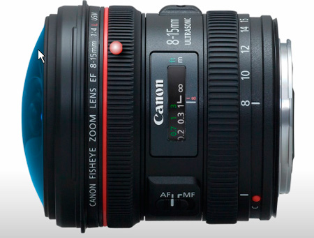 Canon EF 8-15mm f/4L Fisheye USM Fisheye Ultra-Wide Zoom Lens