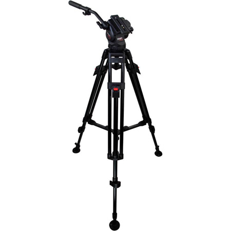 Cartoni H105 HiDV SmartPro Head/75mm 2 Stage Aluminum Tripod/Mid-Level Spreader