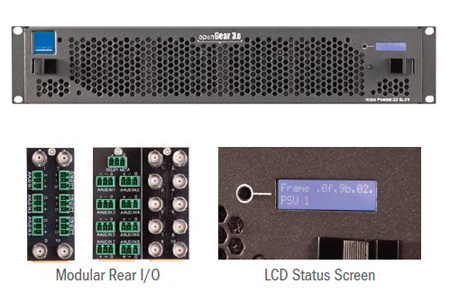 Cobalt 20-slot openGear 2RU Frame with Fans and Metal Plates on Rear I/O - Incl. 1 PS-OG3 PS & Network Controller Card