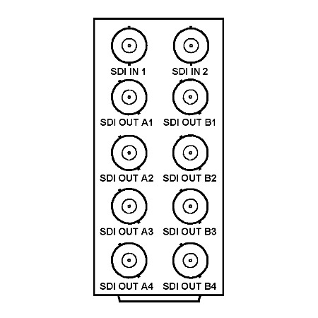 Cobalt RM20-9003-A 8321 Frame Rear I/O Module (Standard Width) 2 HD/SD-SDI Inputs 8 Reclocked HD/SD-SDI Outputs