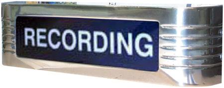 CBT Systems 120V Classic Studio Warning Light - Recording Black