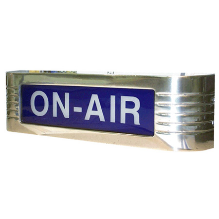 CBT Systems CLA-12ONBW8  Classic 12VDC 1.25W LED ON-AIR Horizontal Sign - Blue with White Text