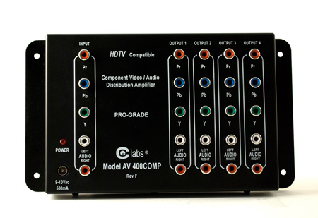 CE Labs AV400COMP 1x4 YPbPr Component Video & Audio Distribution Amp