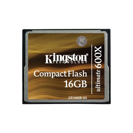 Kingston Technology CF/16GB-U3 16GB CompactFlash Card Ultimate 600x w/ Recovery