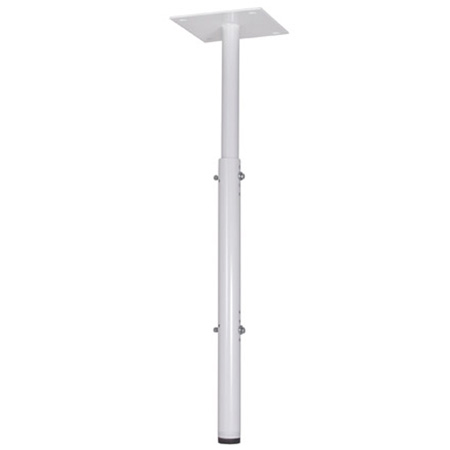 Chief CMA100W 8 Inch Ceiling Plate with Adjustable 1.5 Inch NPT Column - White