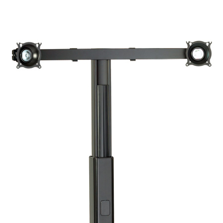 Chief KFA225B Widescreen Dual Monitor Cart/Stand Accessory