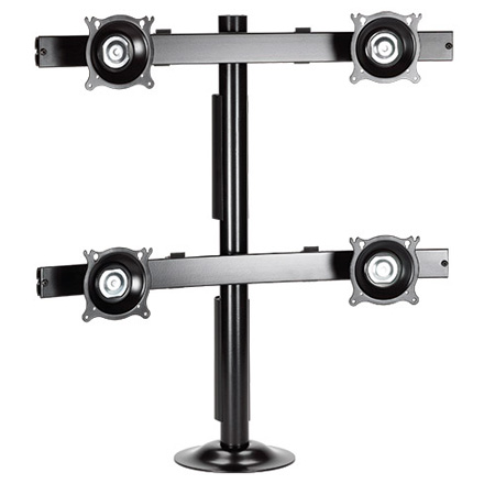 Chief KTG440B Quad Array Black Grommet Mount