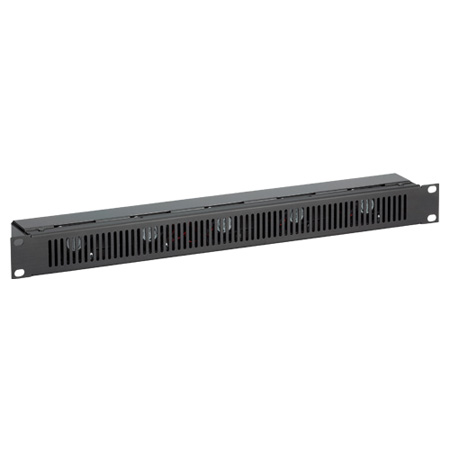 Chief NAF15BA Fan Panel - 1U Five Fans 50CFM - Black Anodized Aluminum