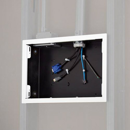 Chief PAC525FW In-Wall Storage Box with Flange - White