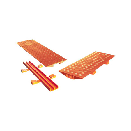 Checkers 2CL2X150-GP-O Linebacker 2-Channel Protector Bridge - Orange