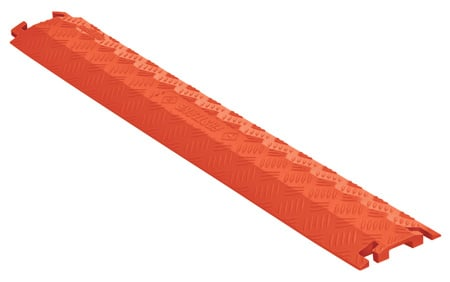 Checkers FL1X4-O FastLane 1 Channel Drop Over Cable Protector - 3 Foot - Orange
