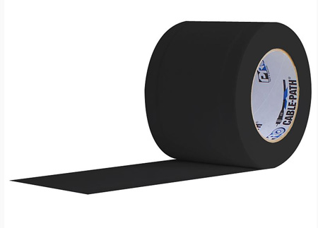 Pro Tapes 6-Inches x 30 Yards Black Cable Path Tape (No-Print)