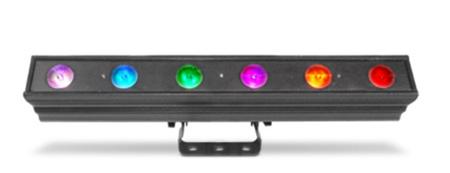 Chauvet CDASHBATTENQ6 Colordash Batten Quad 6 Linear Stage Wash Multi Color LED Light