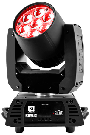 Chauvet ROGUE R1 WASH Compact Wash Mover w/ 7 15-Watt Quad LED & 8-30 Degree Zoom Range