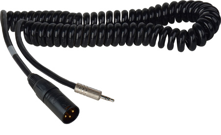 Sennheiser XLR Male Unbalanced Line Output to Mini Locking with Coiled Cable - 3Ft