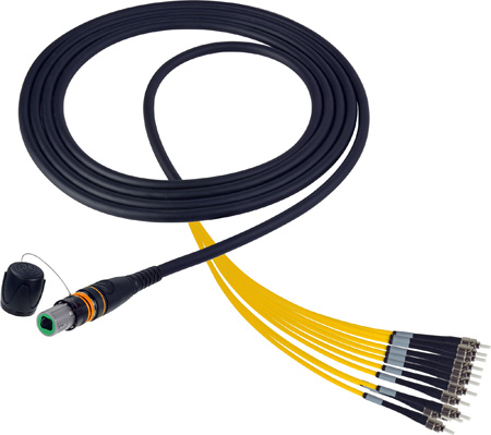 Camplex CMX-OCMTPSMST10 opticalCON MTP to ST Singlemode 12 Channel Breakout Cable - 10 Foot
