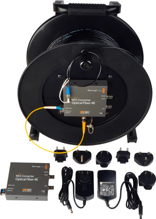Camplex CMX-TACNGO-4K 4K/6G-SDI to Fiber Optic Converter / Extender & Tactical Cable Reel System - 1000 Foot