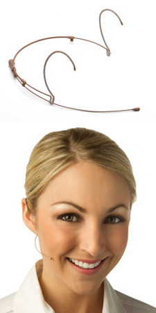 Countryman H6OW6LXLR H6 Omnidirectional Headset - XLR Light Beige