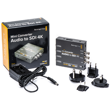 Blackmagic Mini Converter - Audio to SDI 4K - Embedder - Bstock (Open Box/No Inside Packaging)