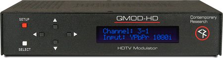 Contemporary Research QMOD-HD HDTV Modulator w/QAM Digital Cable Out