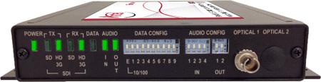 Artel FiberLink 3395-B3S Bidirectional 3G-HD/Audio/Ethernet/Data Multimode 1 Fiber Box with ST Connectors - Tranceiver
