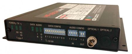 Artel FiberLink 3395-C7S Bidirectional 3G-HD/Audio/Ethernet/Data Singlemode 1 Fiber Card with ST Connectors - Tranceiver