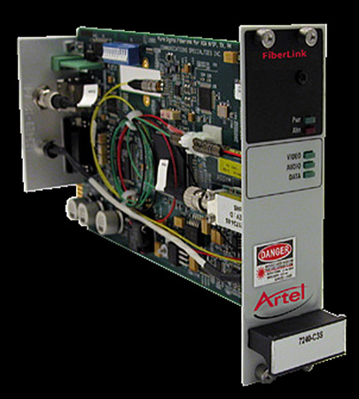 Artel FiberLink 3397-C3L Bidirectional 3G-HD/Audio/Ethernet/Data Multimode 2 Fiber Card with LC Connectors - Receiver