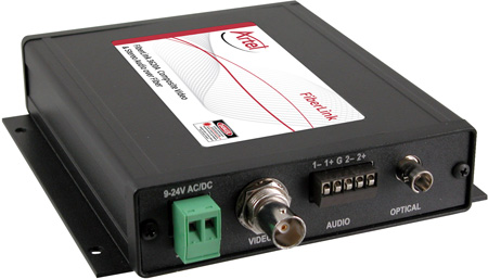 Artel FiberLink 3621A-B7S SM and MM Composite Video and Audio Box with ST Connectors - Receiver