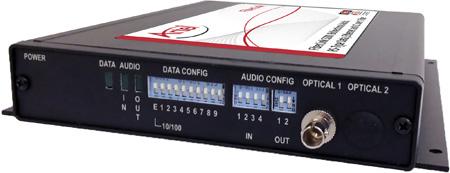 Artel FiberLink 5200-B3S Multimode Bidirectional Audio/ Ethernet/ Data & CC Box with ST Connectors - Transmitter