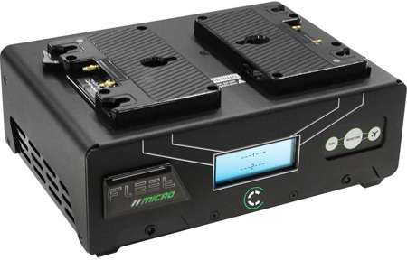 Core SWX FLEET-DM2A Digital 2 Position Gold Mount Simultaneous Charger with TEST & SafeFly Modes