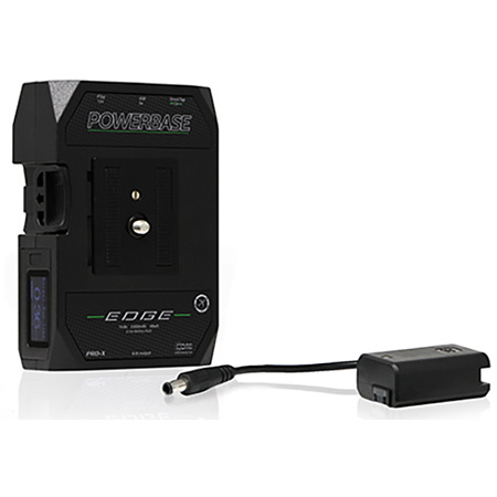 Core SWX PowerBase EDGE Small Form Cine V-Mount Li-Ion Batt Pack 49wh 14.8v w/PB70C15 Charger and Sony A7 FW50 Bat Cable