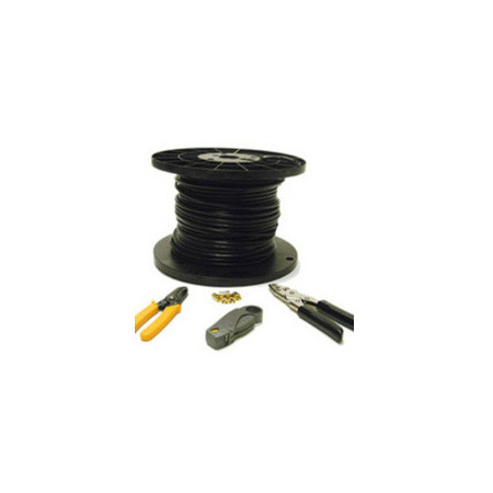 250ft RG6 Dual Shield Coaxial Cable Installation Kit