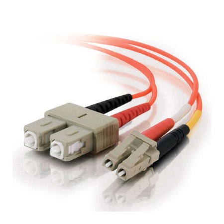 1m LC/SC Duplex 62.5/125 Multimode Fiber Patch Cable - Orange