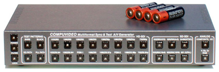 Compuvideo CV-9165SDI-A 3GHD-SDI & Analog AV Multiformat Video Pattern Generator
