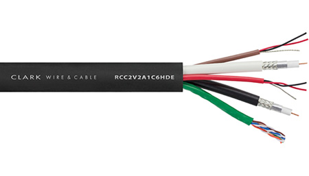 Clark Wire - RCC2V2A1C6HDE 2 Video 2 Audio 1 Cat6 Snake Cable - 500 Feet