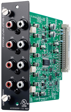 TOA  Input Module  Four Stereo Inputs with Stereo RCA Connectors