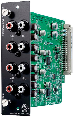 TOA D-971R Line Output Module - Stereo RCA Connectors