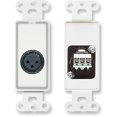 Wall Outlet w/ 3-Pin XLR Female