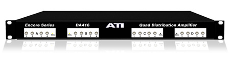 ATI DA416 Quad 1X4 Distribution Amplifier - Clipping Indicator