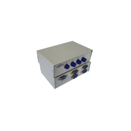 4 Port Manual DB9 Share Switch Box - Metal